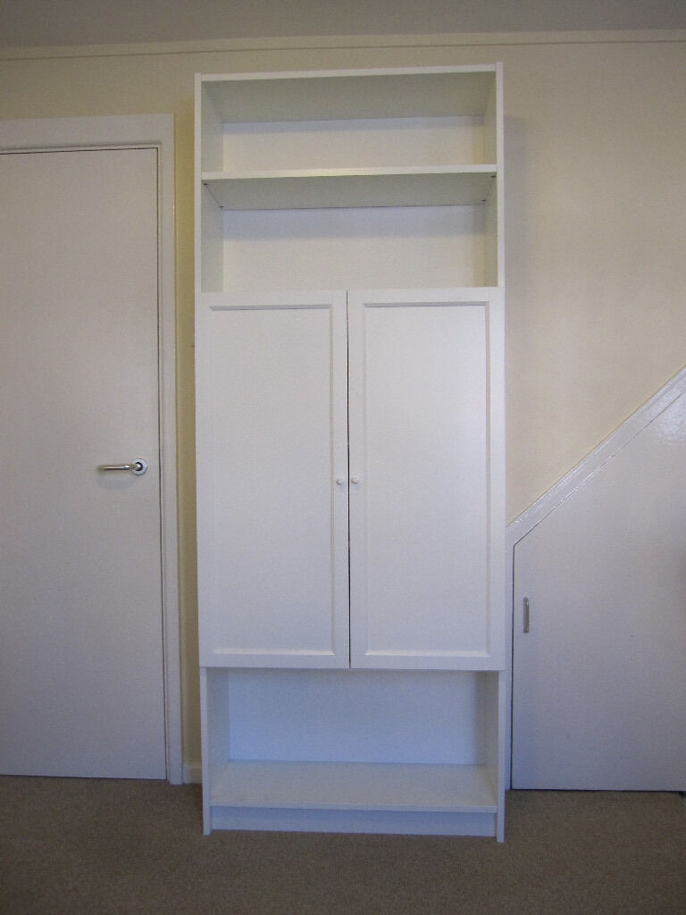 ikea billy bookcase in white with oxberg doors in winchester hampshire gumtree. Black Bedroom Furniture Sets. Home Design Ideas
