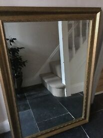 Gold coloured mirror for sale
