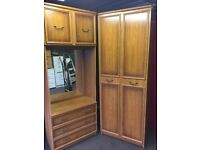 TALL WOODEN DOUBLE WARDOBE WITH DRESSING UNIT,CAN DELIVER