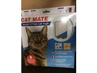 Cat Mate glass fitting cat flap, NEW