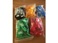 200 New Small Key Fobs/Rings