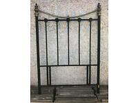 Quality Metal Brass Black Single Bed Head Wrought Iron Vintage Shabby Chic