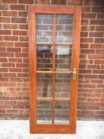 Interior Mahogany glass panelled door
