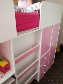 High sleeper/cabin bed