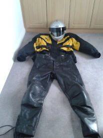 Motorcycle Leather Trousers, Textile Jacket & Nolan Helmet