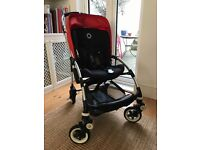 Bugaboo Bee Plus Buggy Red 2013 with Baby Cocoon