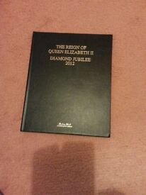 The Reign of Queen Elizabeth 11 Diamond Jubilee 2012 Leather bound Book