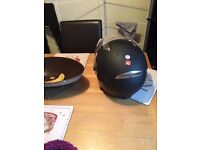 Motorbike Helmet & Padded Gloves, JIX & Thinsulate/Kevlar (£30 OBO)