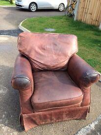 Laura Ashley leather arm chair