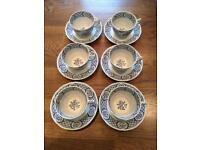 Old Chelsea Furnivals tea cups and saucers