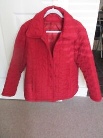 Lightweight quilted red jacket