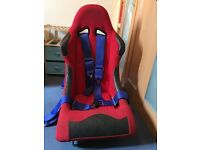 Bucket seats and belts