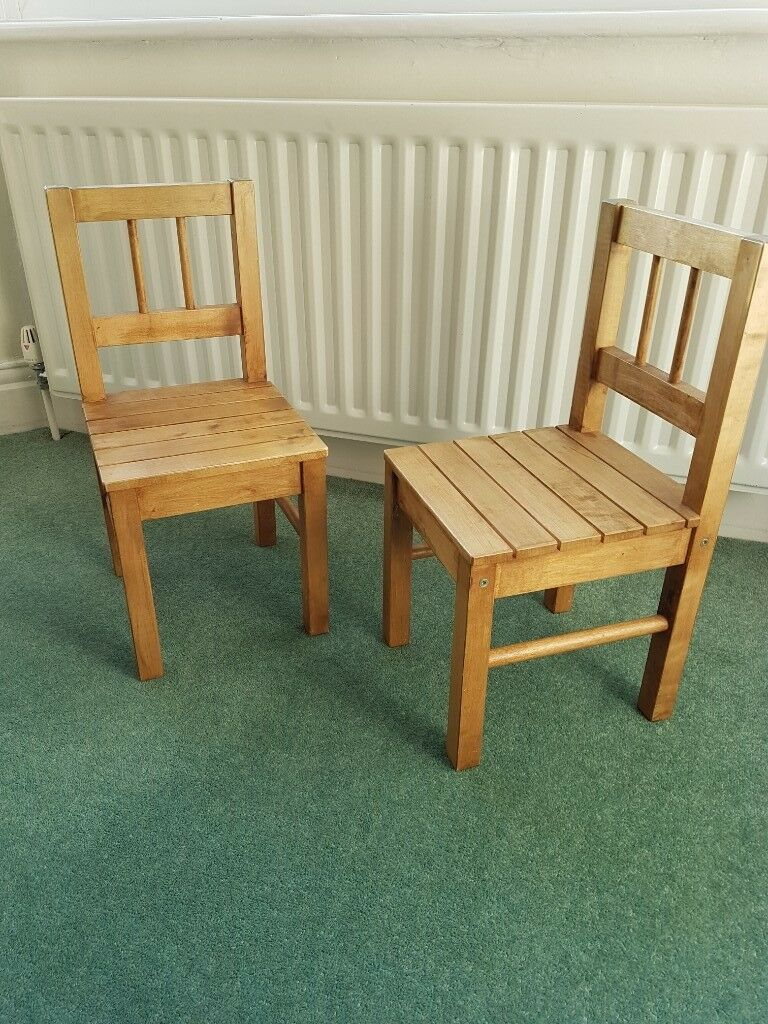 Pair Ikea Wooden Kids Chairs In Gosforth Tyne And Wear