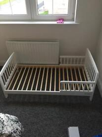 White Toddler/Baby Bed Cot