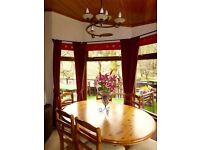 Luxury 3 bedroom Lodge for sale in Dunoon, situated on Loch Eck.