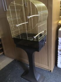 Bird cage stand and accessories