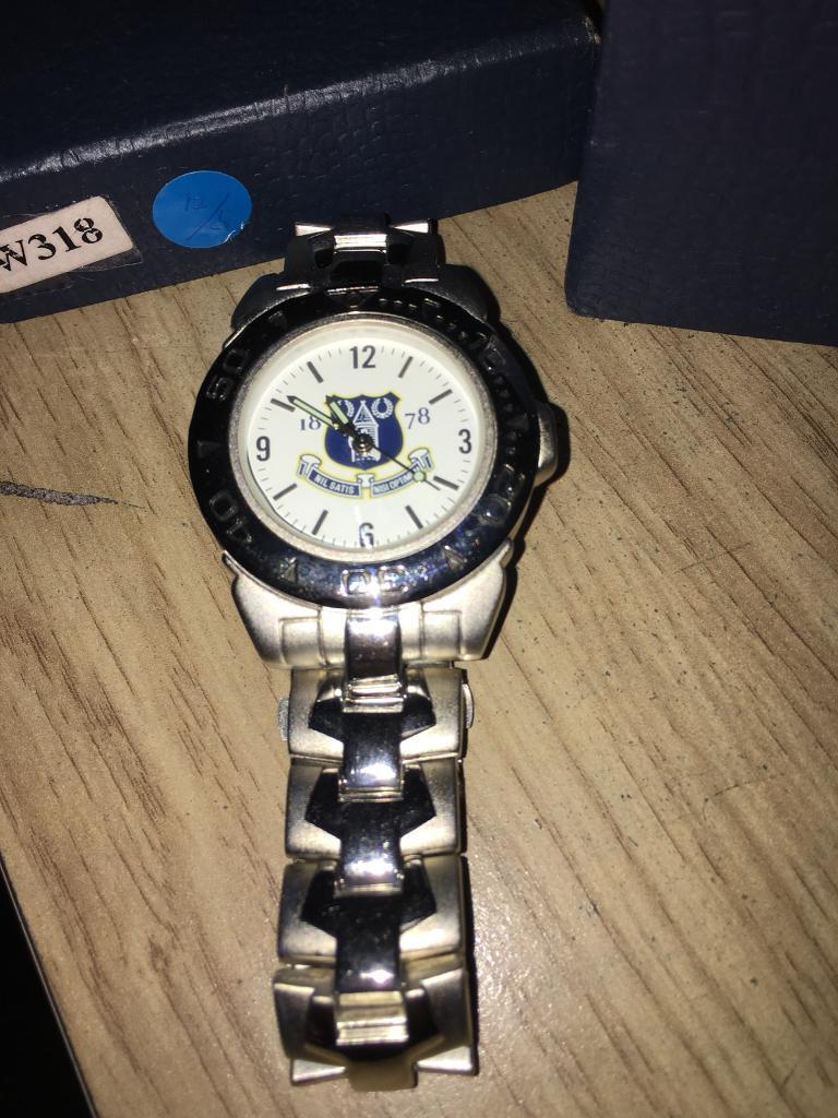 Everton F.C. stainless steel men's watch NEW