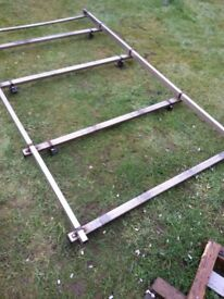 Ford Transit connect alloy roof rack with roller bar
