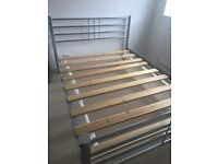 Modern Contemporary Style Double Bed Frame - For collection