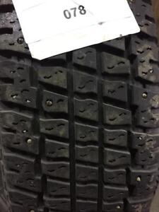 PNEUS HIVER CLOUTÉS USAGÉS / USED WINTER TIRES WITH STUDS 205/75R15 20575R15 97S PRESIDENT PANTHERA II