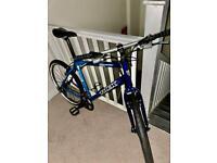 Blue 21.5 inch/21 speed refurbish Trek off road bicycle