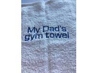 My Dad's Gym Towel