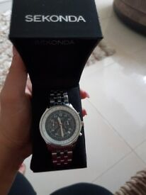 Mans sekonda sliver watch brand new