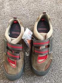 New boxed Clarks boys shoes for sale - size 1G