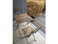 Ikea garden table and chairs wooden