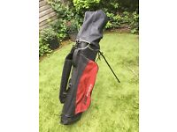 Full golf set and bag with 13 clubs and accessories excellent condition by Peter Alliss