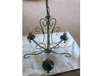 2 x B and Q chandeliers great condition £60