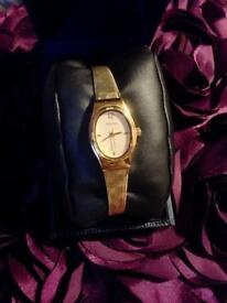 Beautiful Vintage Sekonda Gold Ladies Wrist Watch In Case With Manual