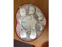 Chinese Porcelain Set of 6 - only 1 plate is missing USED BUT EXCELLENT CONDITION