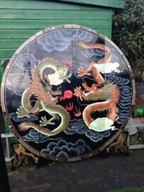 Chinese Ornamental Dragon Wall Panel