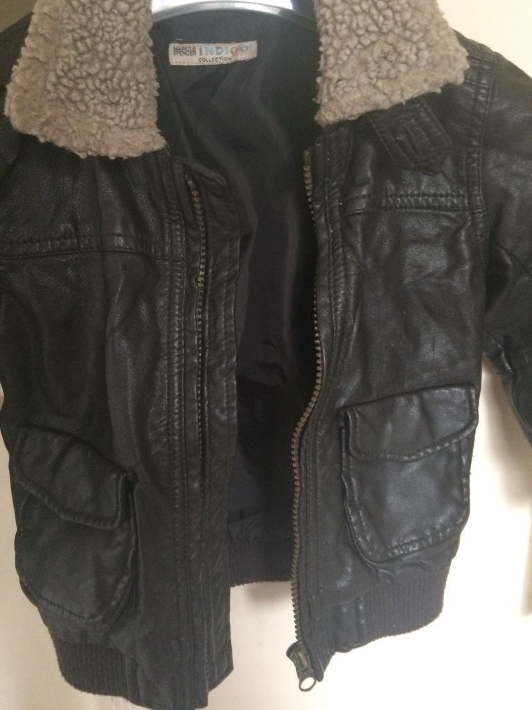 Marks and Spencer's leather jacket