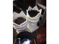 Two chimney pots for plants
