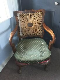 Victorian/Edwardian Rattan Chair for sale