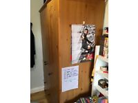 Pine wardrobe and chest of draws