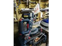 Bosch GCM10 10SD professional mitre saw hardly with legs