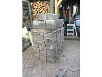 Driveway bricks pile