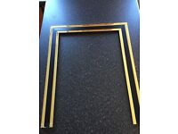 Brass and Black fire grate and surround