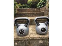 2x 20kg kettlebells