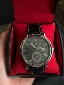 Armani watch. Leather strap mint condition