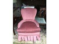 Vintage Pink Bedroom Chair