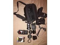LUMIX G10 DSLR CAMERA + 3 lens + bag and more!! HUGE BUNDLE!