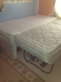 Single bed with slide under guest bed