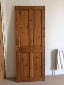 4 victorian style wooden internal doors