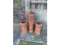 3x chimney pots victorian