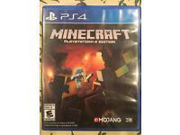 PS4 game Minecraft