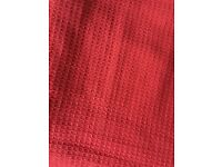 Cotton throw, red, double (230x255cm)